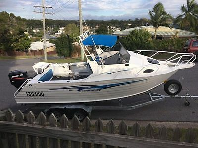 2008 660 TRAILCRAFT SPORTSCAB WITH 200hp OUTBOARD