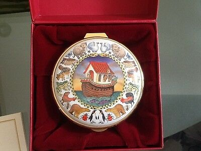 Beautiful Staffordshire Enamels Noah's Ark Hand Painted Trinket Box