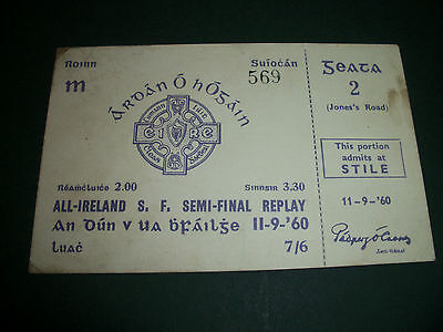 VERY RARE ALL IRELAND GAA SEMI FINAL REPLAY MATCH TICKET DOWN v OFFALY