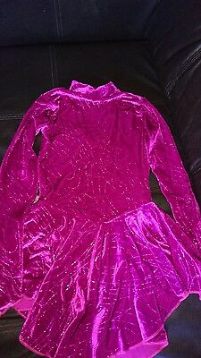 pink sparkly ice skating dress size 3a