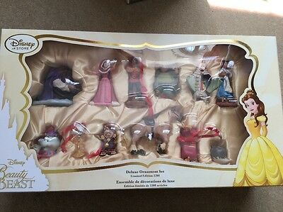 BRAND NEW Disney Beauty and the Beast Deluxe Ornament Set