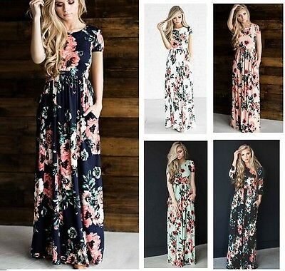 MAXI Dress,holiday resort wear,suitable Maternity,Maternity Dress Floral Short