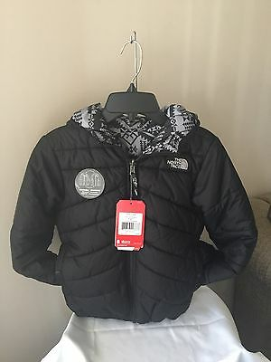 Nwt-The North Face Boy's Youth Perrito Black Reversible Jacket Size M 10/12