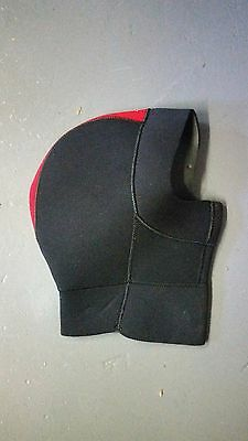 Northern Diver Neoprene Dive Hood - 5mm - Black / Red - Size Small
