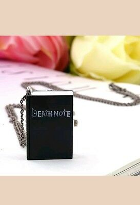 New Death Note Book Quartz Pocket Watch  Necklace GW17