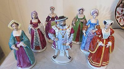 Henry VIII Viii & and His 6 Wives, Dresden Porcelain,Sitzendorf  1st quality