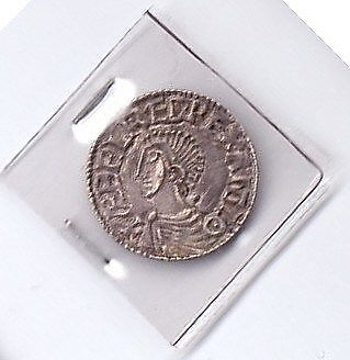S703:  Aethelred II Saxon Penny -  Wulfric on Lincoln. S.1151.