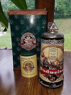 """Anheuser Busch - 2003 Members Only Stein   """"Historical Advertising 1936"""" CB24"""