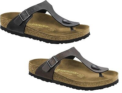 b7ef26d97d28a Birkenstock Gizeh Ciabatte Infradito Uomo Donna Unisex Pull Up Brown  Anthracite