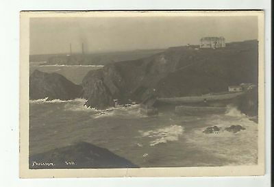 Mullion. The Lizard, Cornwall. very old Real Photo postcard.