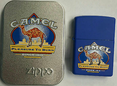 CAMEL Zippo Z588 Pleasure to Burn Blue RJR Gift Shop Only 200 Made and TIN. MNT.