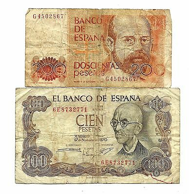 Spain  2 Banknotes