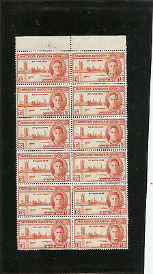 NORTHERN RHODESIA 1946 Victory issue  SG46a unmounted mint block