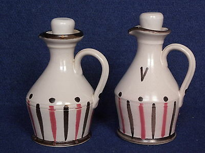 Buchan Stoneware 2x bottles / flasks with stoppers (Oil or Vinegar) , M1-6, 13-5