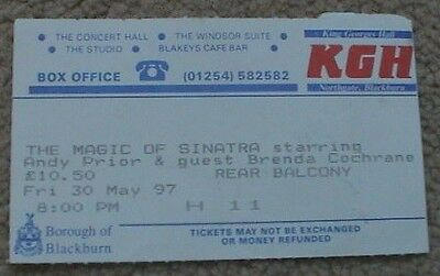 1997 The Magic Of Sinatra Andy Prior  Brenda Cochrane Ticket (King Georges Hall)
