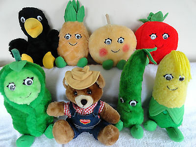 Lot 8 Del Monte Country Yumkin Plush Vintage 80's Collectible Advertising Promo.