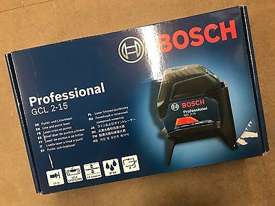 1 ONLY! Bosch GCL 2-15 Line Laser BRAND NEW! Retail At £135+