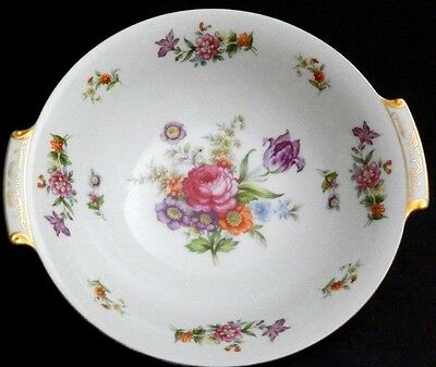 Harmony House DRESDANIA, White Floral Round Vegetable Bowl