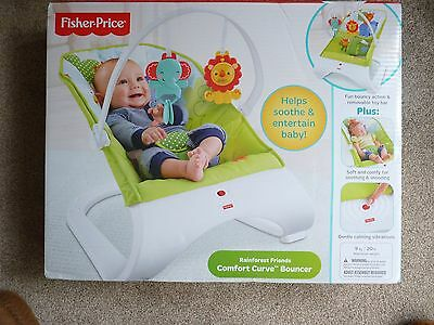 Fisher Price Rainforest Friends Comfort Curve Bouncer Brand New