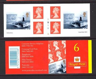 """GREAT BRITAIN 2001 SC #1971 """"Submarines"""" complete booklet MNH SC $125.00"""