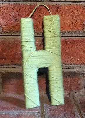 Yarn Wrapped Letter Green H