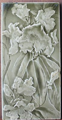 Antique Sherwin and Cotton 6 by 12 Moulded Flower Tile