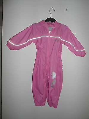 Regatta Girls Pink Waterproof All In One Splash Puddle Suit Age 18-24 Months