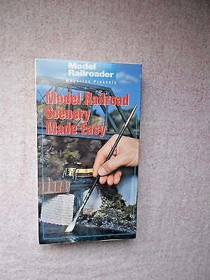 Model Railroader Magazine Presents Model Railroad Scenery Made Easy VHS New