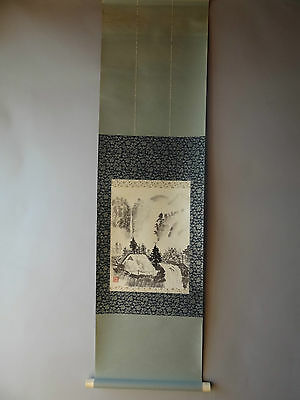 """Japanese hanging scroll Handpainted on Paper  """"Sansui zu """"   a0107"""