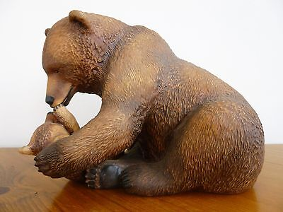 National Wildlife Federation Bear And Cub Mother's Pride Franklin Mint 1984