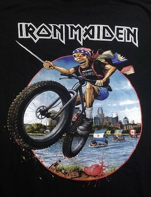 Iron Maiden Original Minneapolis  Event  2017 Tour Shirt Mega Rare!!!!