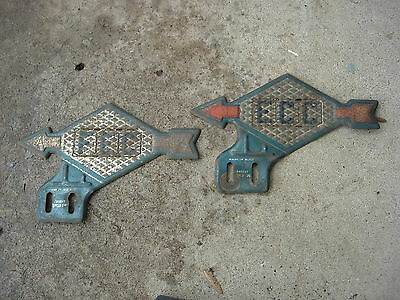 2 Vintage Sunoco Gas and Oil License Plate Toppers
