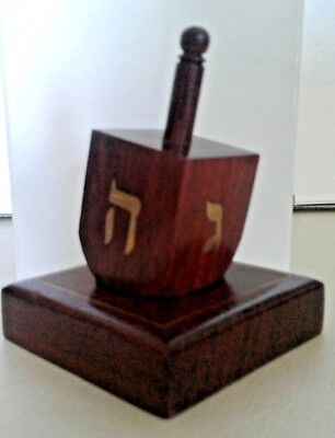 ELEGANT DREIDEL ON MATCHING BASE, from Draegers,  an upscale store