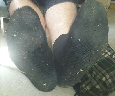 Mens black Trashed Collectors edition work socks boots feet foot toes