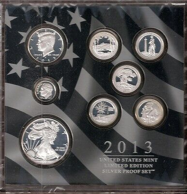 2013 U.S. Mint Limited Edition Silver Proof Set(inc 2013W Silver Eagle )