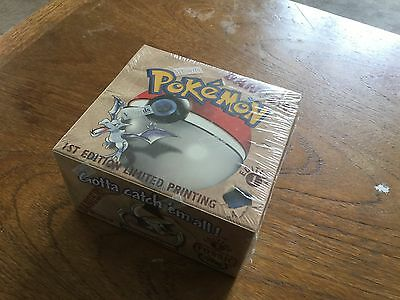 pokemon fossil 1st edition sealed booster box 36 packs!