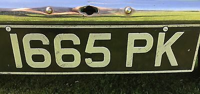 cherished Private Number Plate 1665 PK