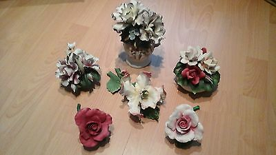 Capodimonte made in Italy Porcelain Flower Ornaments Collection