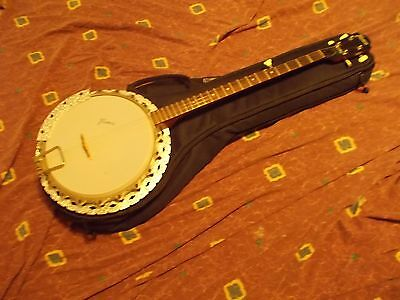 Vintage 1968 Framus 5 string Resonator Banjo Germany original Exc w/Deering bag