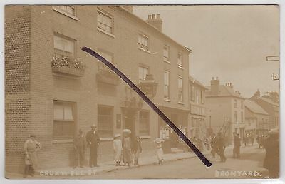 Bromyard, Worcestershire: Social History: Real Photo Postcard of Cruxwell Street