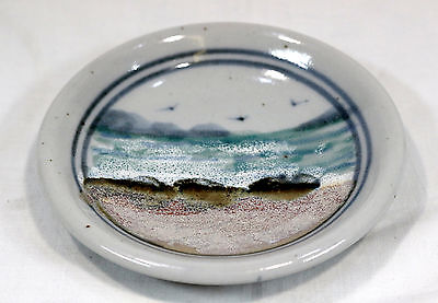 Highland Stoneware Pin dish In Seascape Pattern