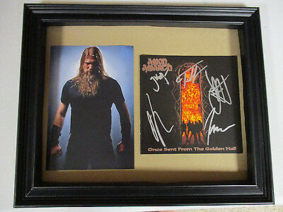 Amon Amarth Autographed Signed Framed Cd Cover 2 With Signing Picture Proof