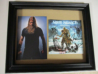 Amon Amarth Autographed Signed Framed Cd Cover 3 W/ Exact Signing Picture Proof