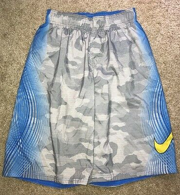 Nike Boys Youth Blue Swim Trunks Shorts Size XL Tie Waist Patterned