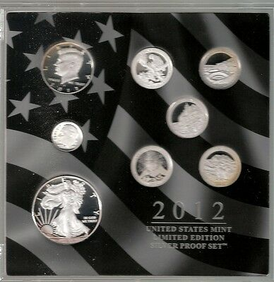 2012 U.S. Mint Limited Edition Silver Proof Set(inc 2012W Silver Eagle )