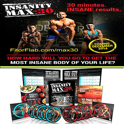Brand New Insanity Max 30 Complete Dvd Set With Guides Sealed @fast Shipping@