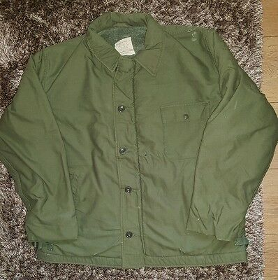 Genuine Vietnam era A2 permeable cold weather deck jacket, extra large