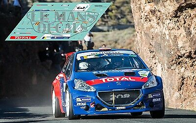 Calcas Peugeot 208 T16 Rally Canarias 2017 3 ERC 1:32 1:43 1:24 1:18 decals