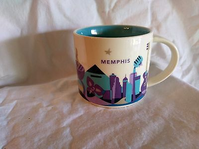 "Starbucks Memphis Coffee Mug ""You Are here"" Collection 2014"