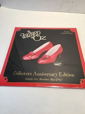 Wizard Of Oz 2009 Calendar Collectors Anniversary Edition New Factory Sealed